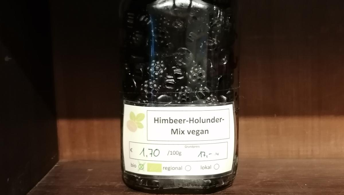 Himbeer-Holunder-Mix vegan