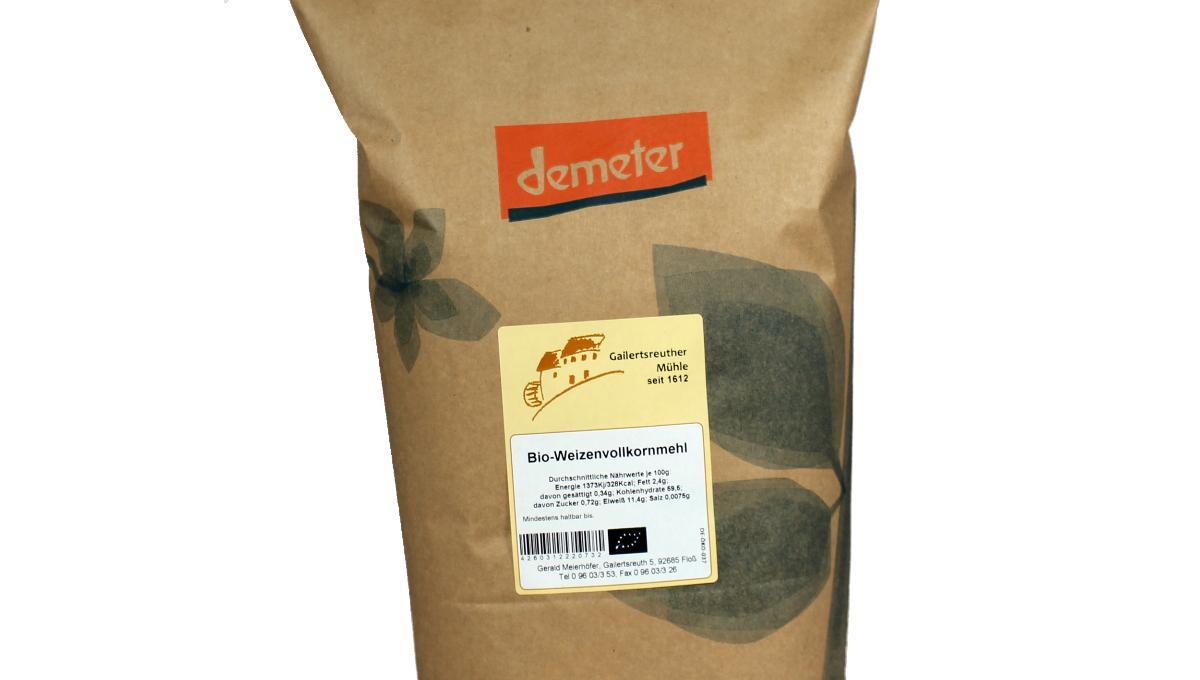 Bio-Weizenvollkornmehl, demeter