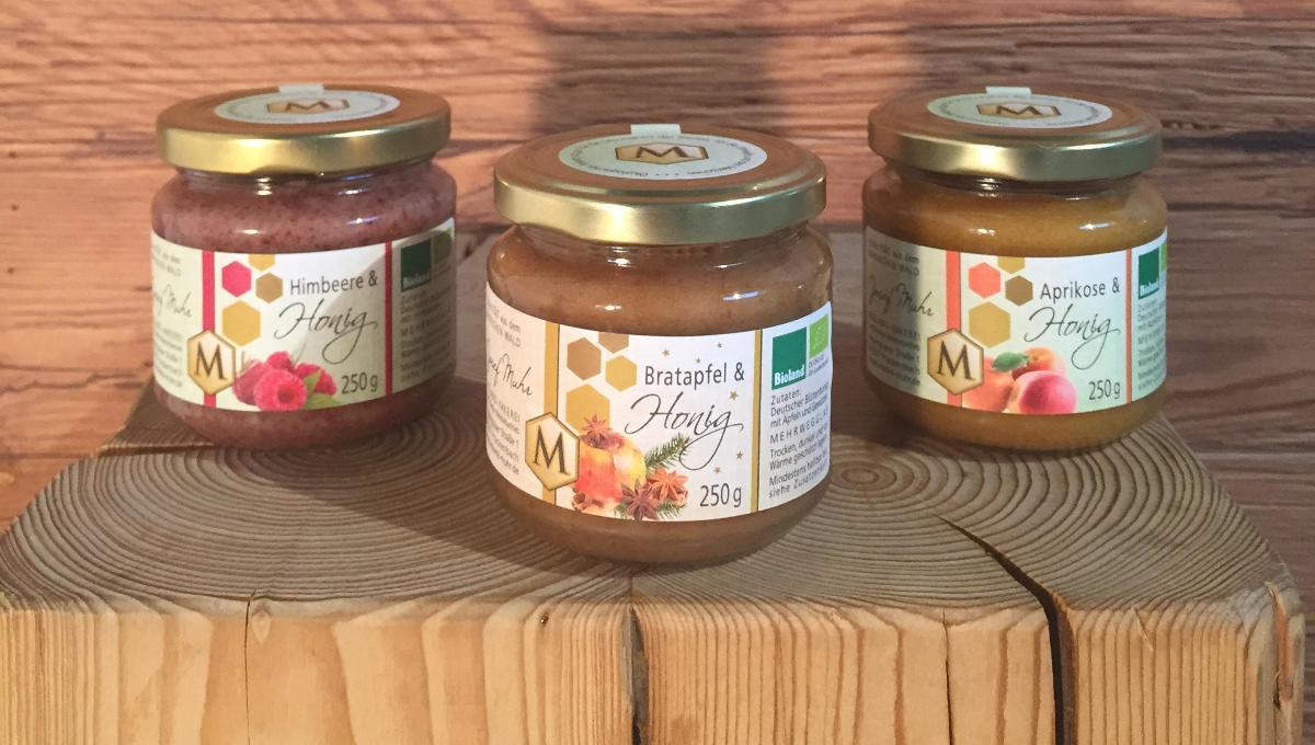 diverse Honigfruchtaufstriche