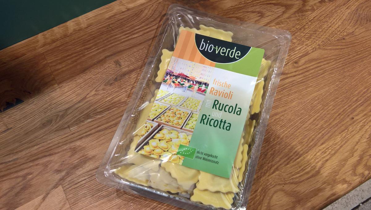 Ravioli mit Rucola und Ricotta