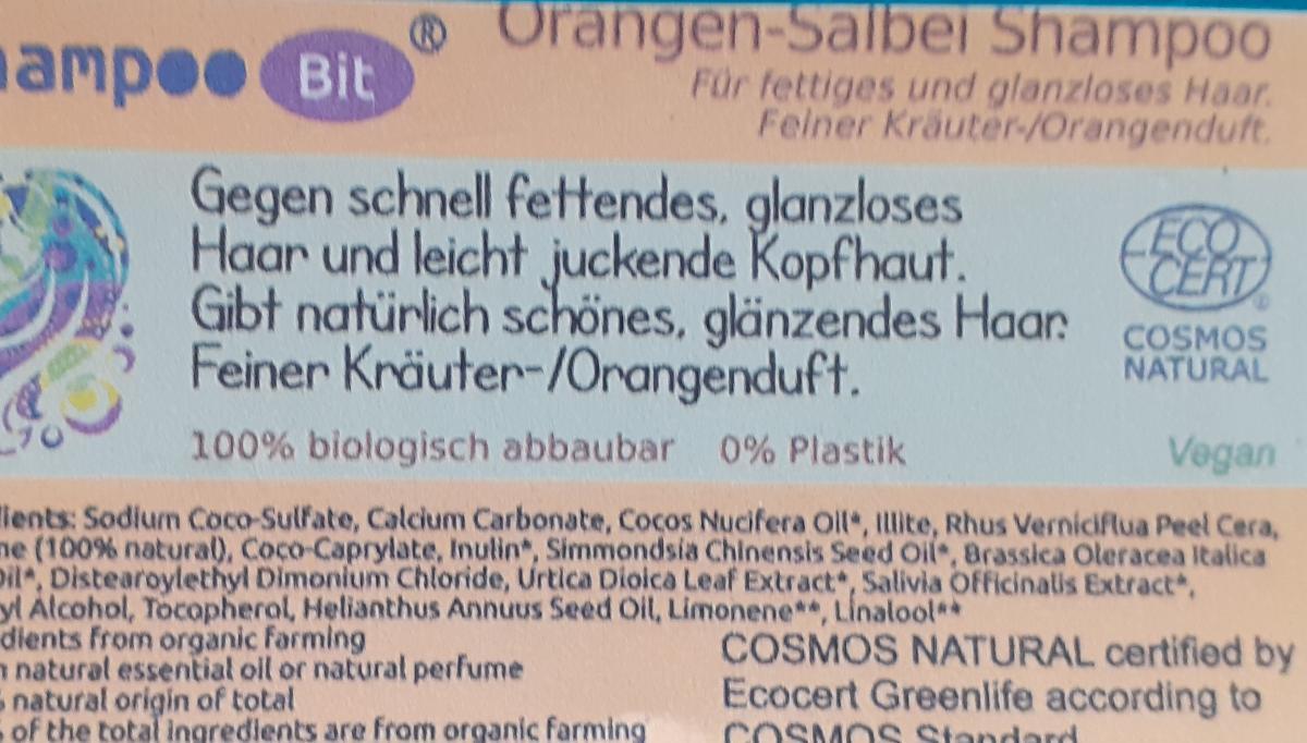 Shampoo Bit von Rosenrot, Orangen Salbei