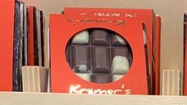 Vollmilch-weiße Fleckerl Schokolade 50g Krämer