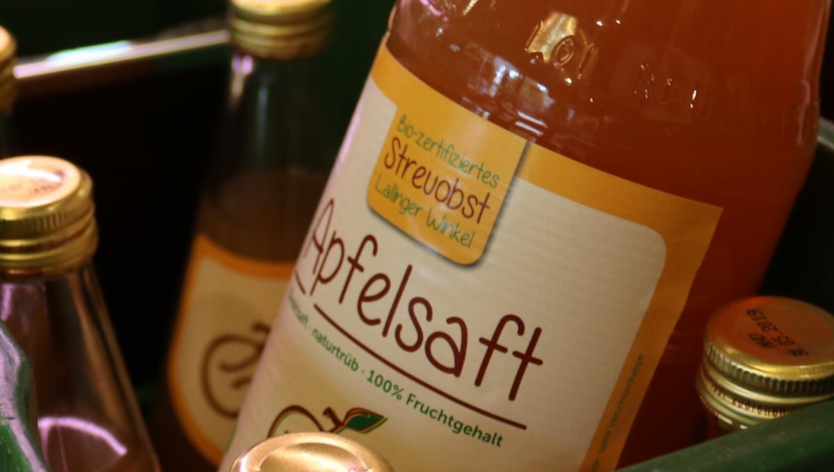 Naturtrüber Apfelsaft in  1 l Glasflaschen