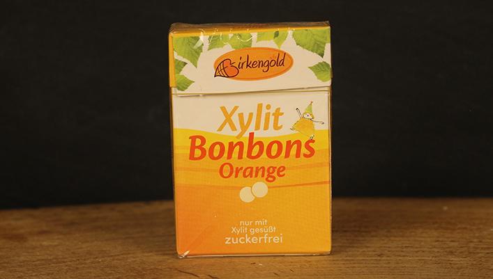 Xylit-Bonbons Orange, Birkengold 30g
