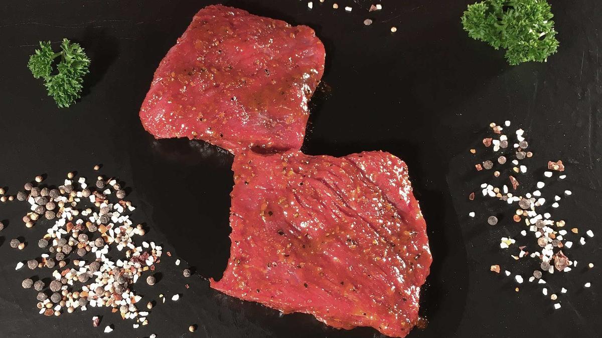 Bio Rinder-Hüftsteak mariniert 2 Stück