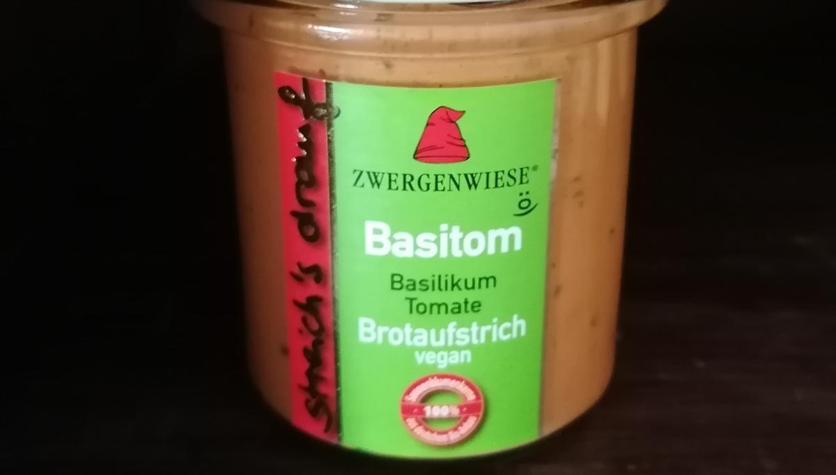 Aufstrich Zwergenwiese: Streich´s drauf - Basitom / Basilikum Tomate
