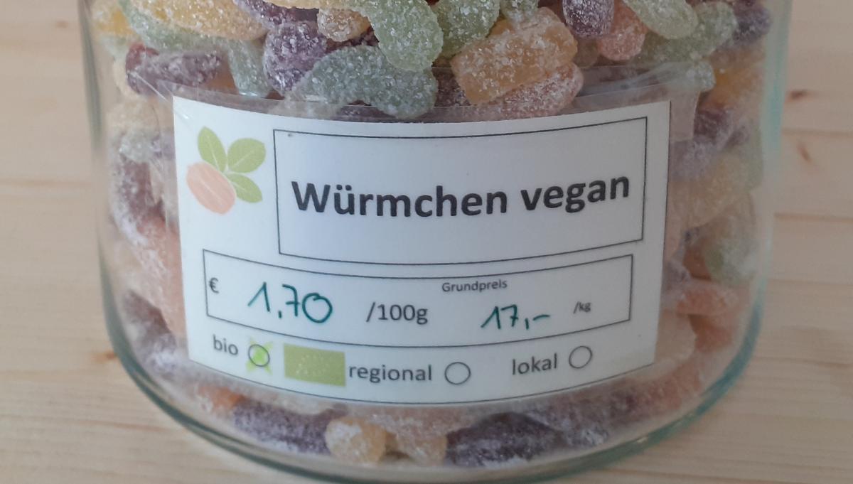 Würmchen vegan