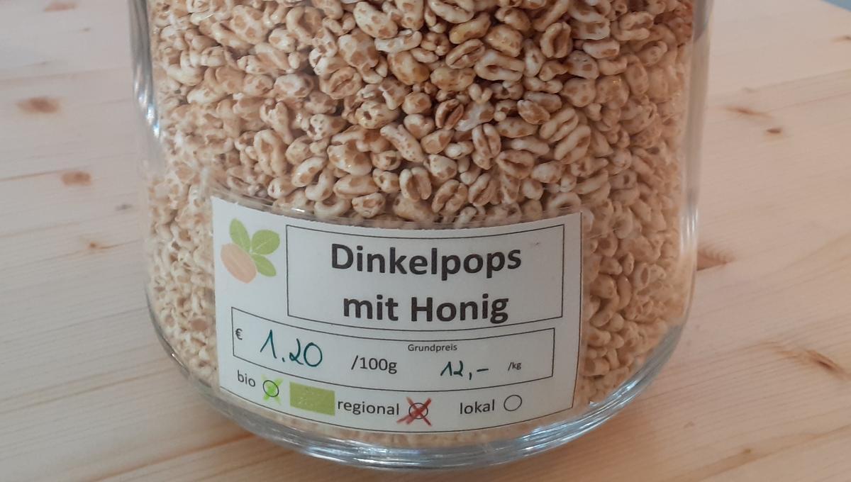 Dinkelpops mit Honig
