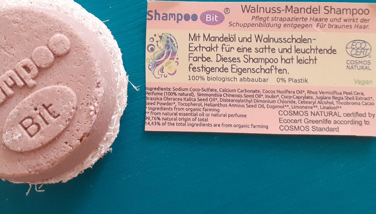 Shampoo Bit von Rosenrot, Walnuss Mandel