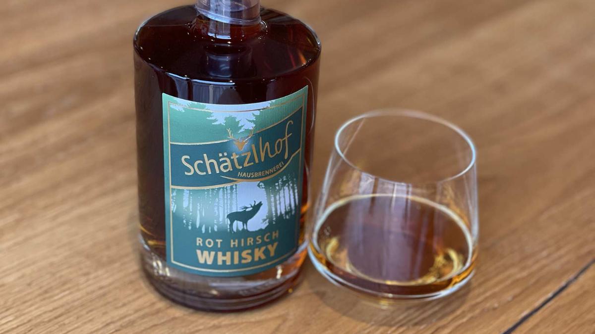Rot Hirsch Single Malt Whisky Silber