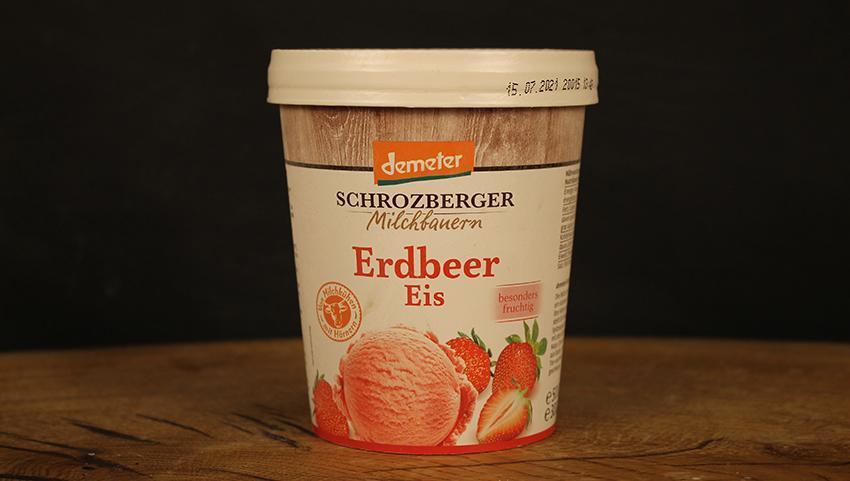 Eis Erdbeer Schrozb