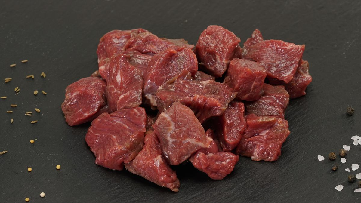 Bio Rindergulasch geschnitten