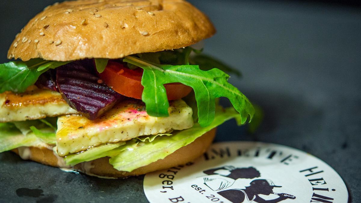 Ziegen-Burger (vegetarisch)