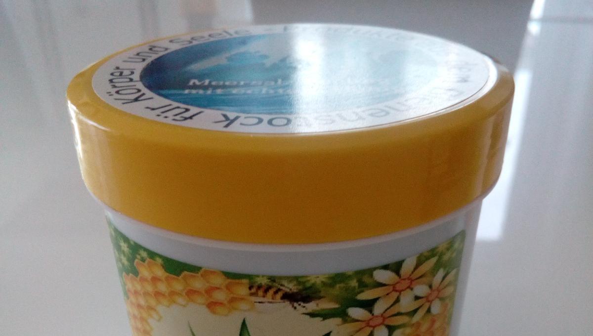 Meersalz Peeling mit echtem Honig
