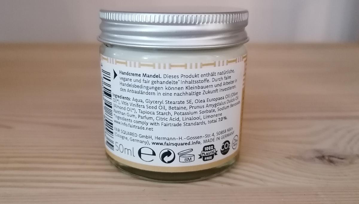 Fair Squared - Hand Cream Almond