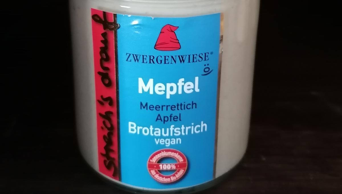 Aufstrich Zwergenwiese: Streich´s drauf - Mepfel / Meerrettich und Apfel