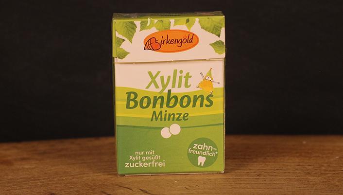 Xylit Bonbons Minze, Birkengold 30g