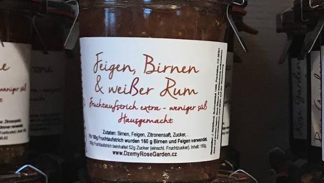 Fruchtaufstrich Feigen, Birnen & Weißer Rum