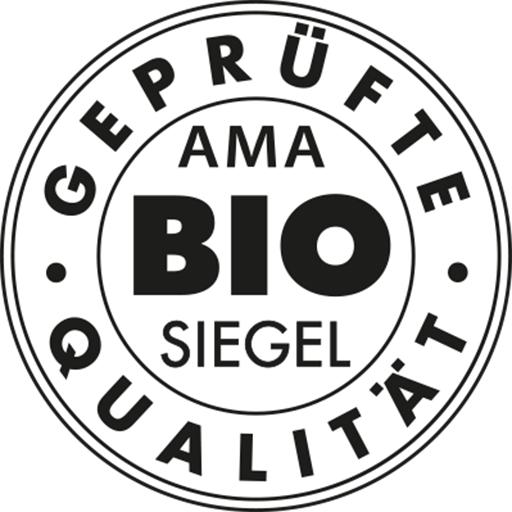 Schwarz-weißes AMA-Bio-Siegel