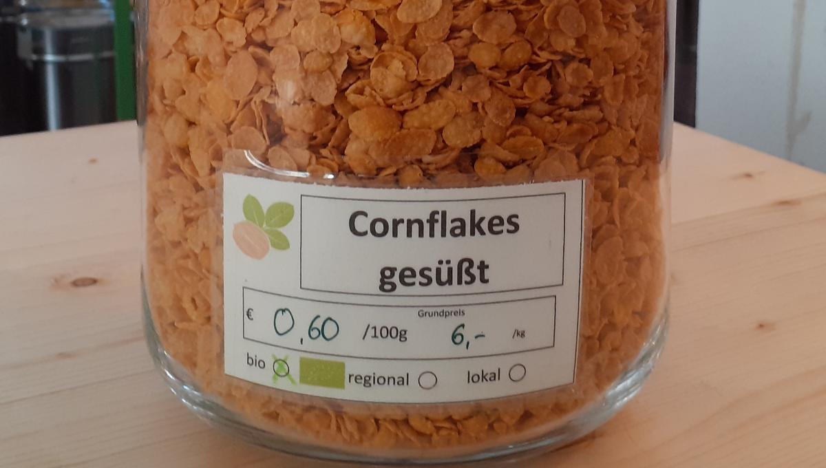 Cornflakes gesüßt