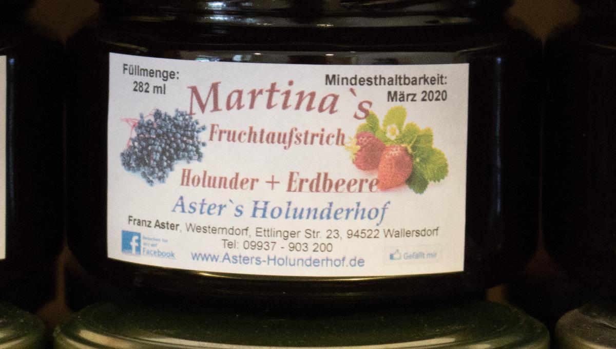 Fruchtaufstrich Holunder & Erdbeere