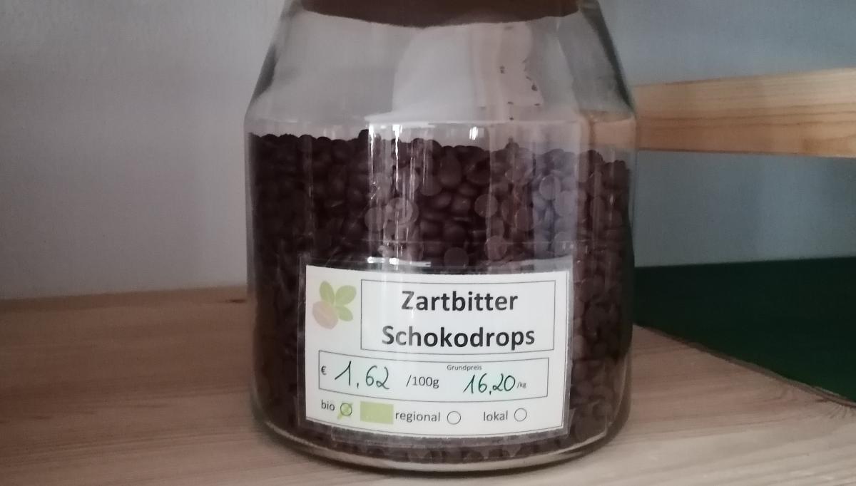 Zartbitter-Schokodrops