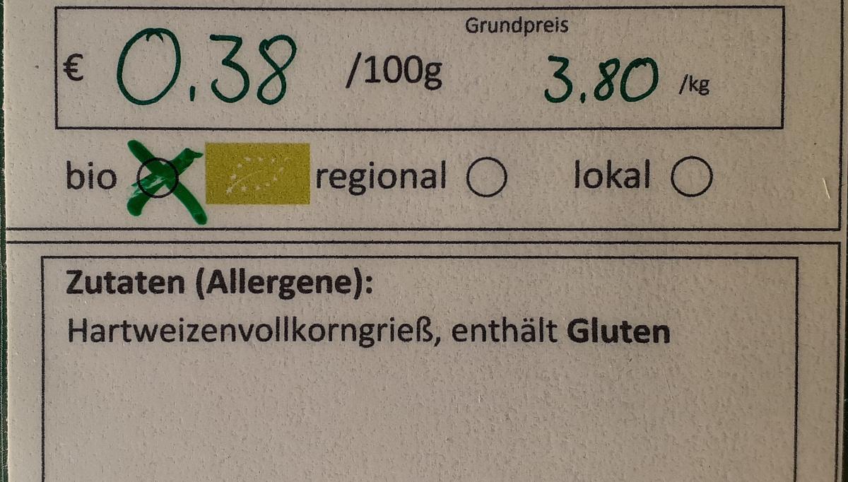 Weizen-Vollkorn-Spirelli
