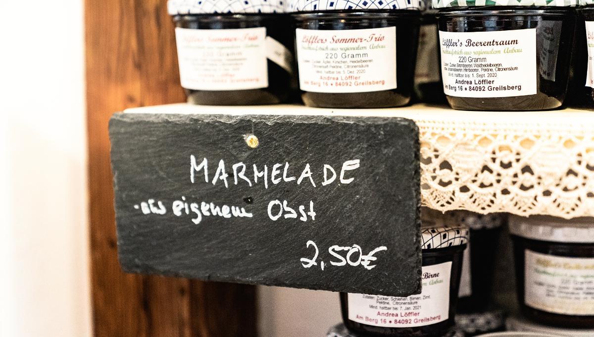 Marmeladen, verschiedene Sorten