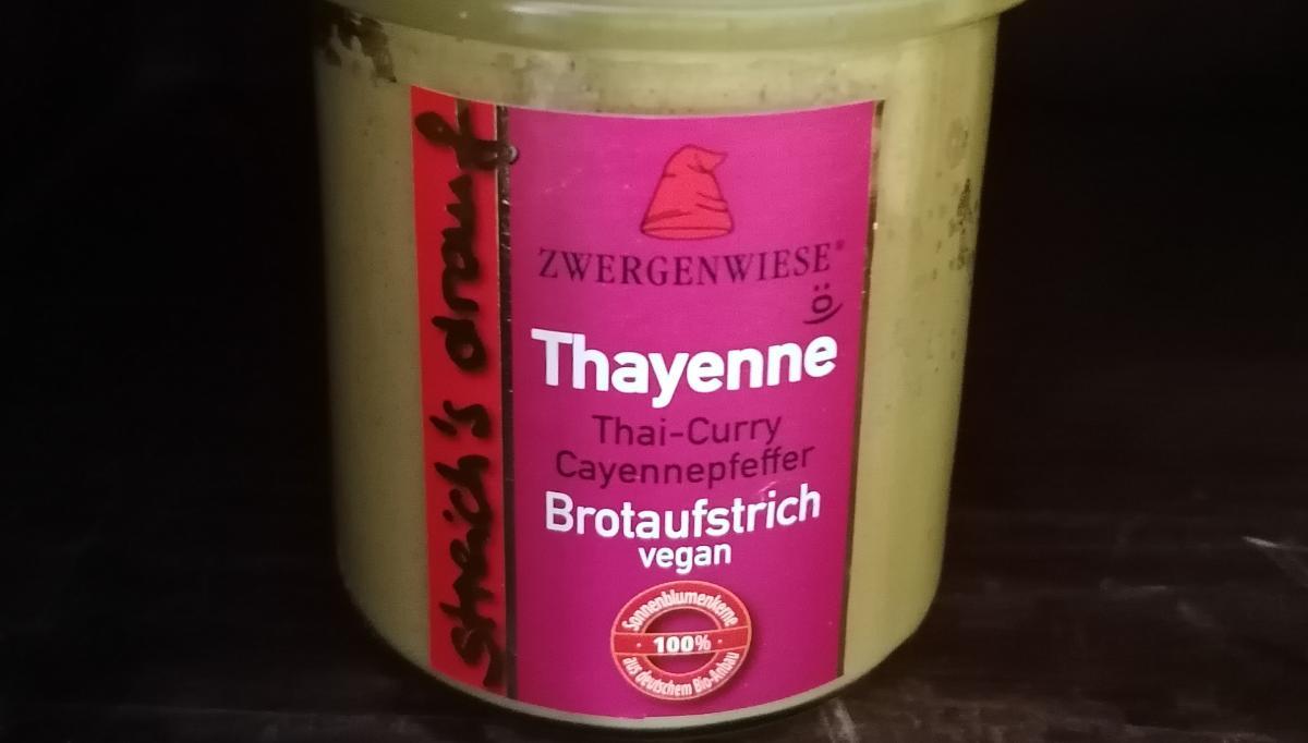 Aufstrich Zwergenwiese: Streich´s drauf - Thayenne / Thai-Curry unc Cayennepfeffer
