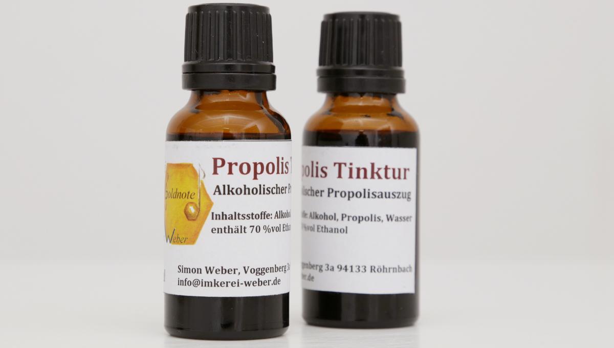 Propolis Tinktur mit Alkohol