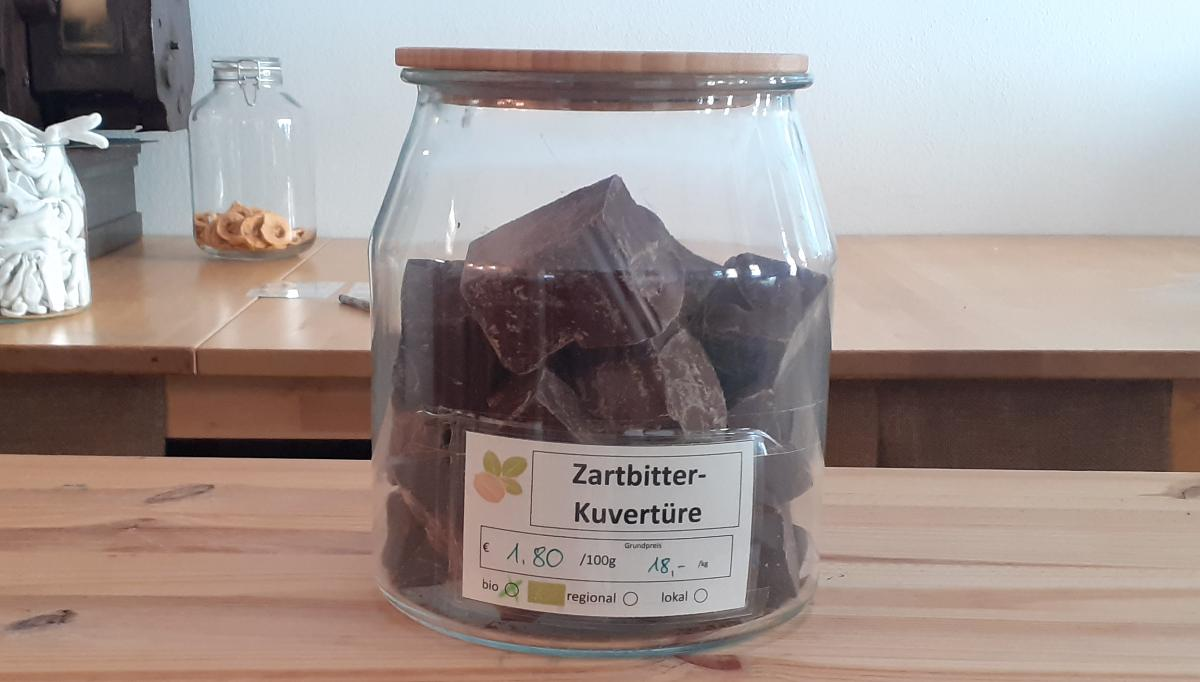 Zartbitter-Kuvertüre