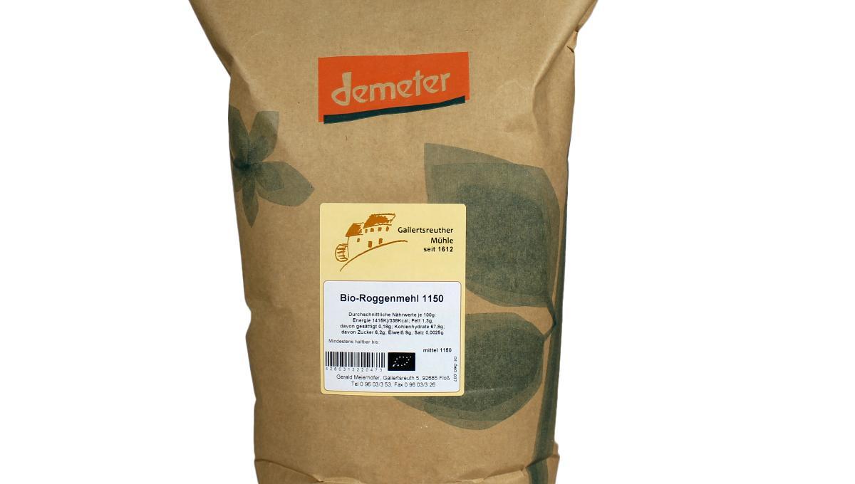 Bio-Roggenmehl Type 1150, demeter