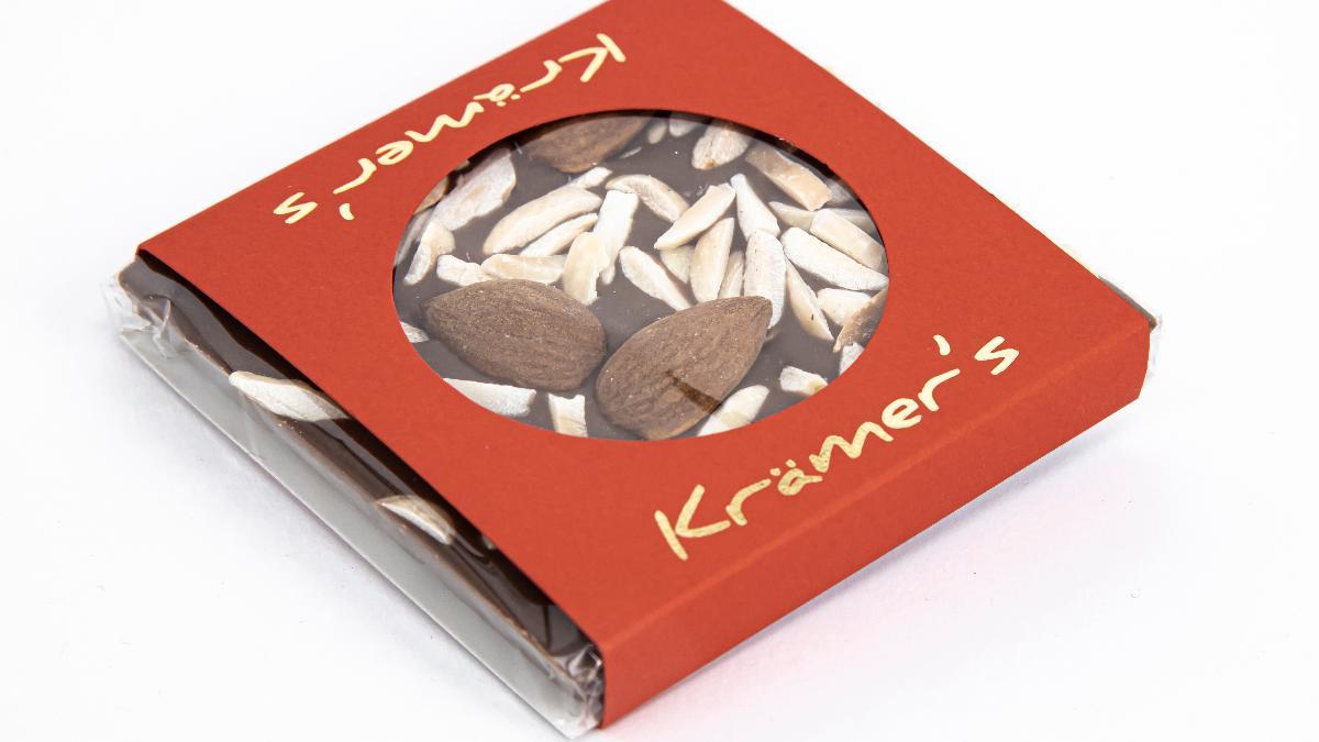 Zartbitter-Mandel Schokolade 50g Krämer