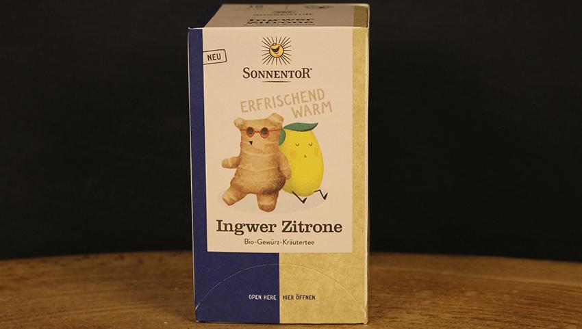 Ingwer Zitrone Tee Beutel, Sonnentor 18 Btl