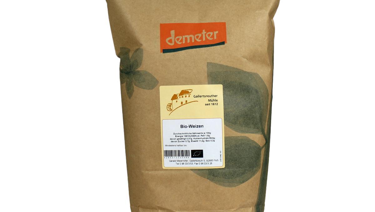 Bio-Weizen ganze Körner, demeter