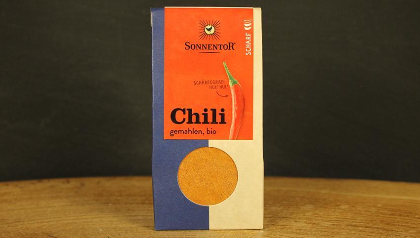 Chili gemahlen, Sonnentor 40g