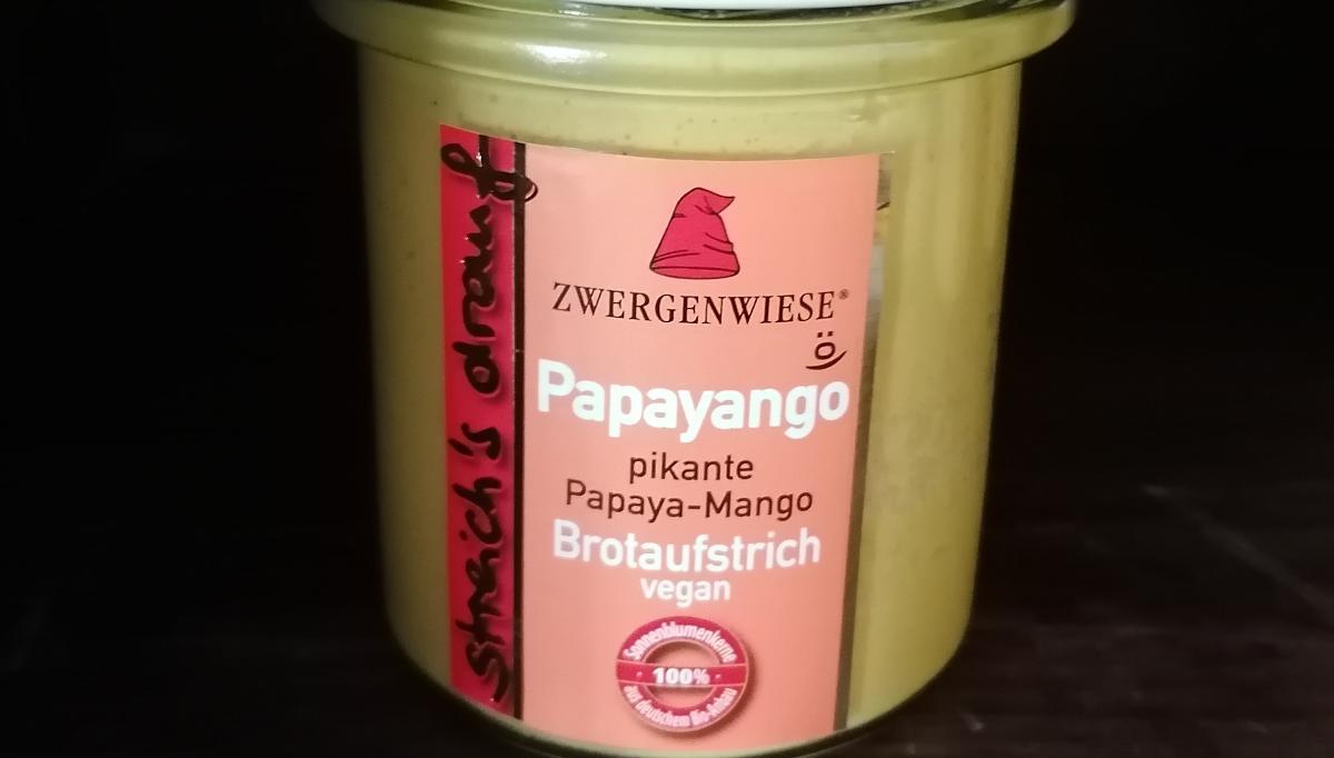 Aufstrich Zwergenwiese: Streich´s drauf - Papayango / pikante Papaya und Mango
