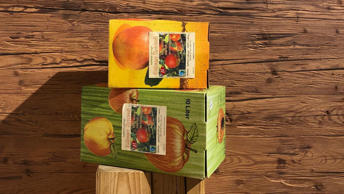 Naturtrüber Apfelsaft im Karton