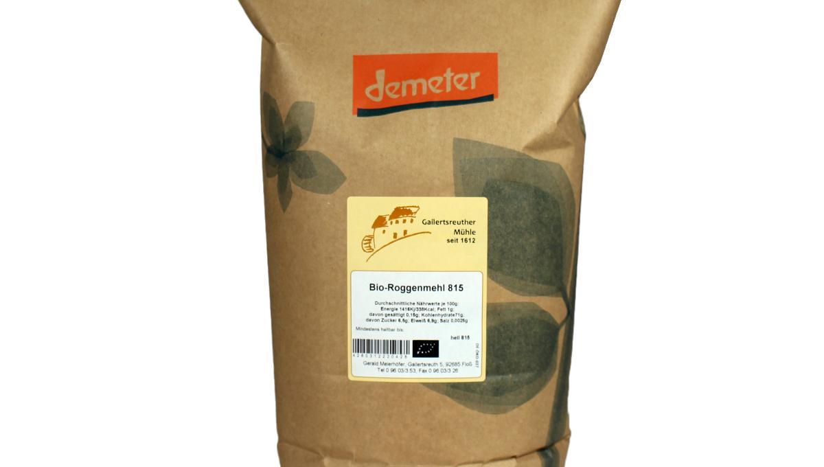 Bio-Roggenmehl Type 815, demeter