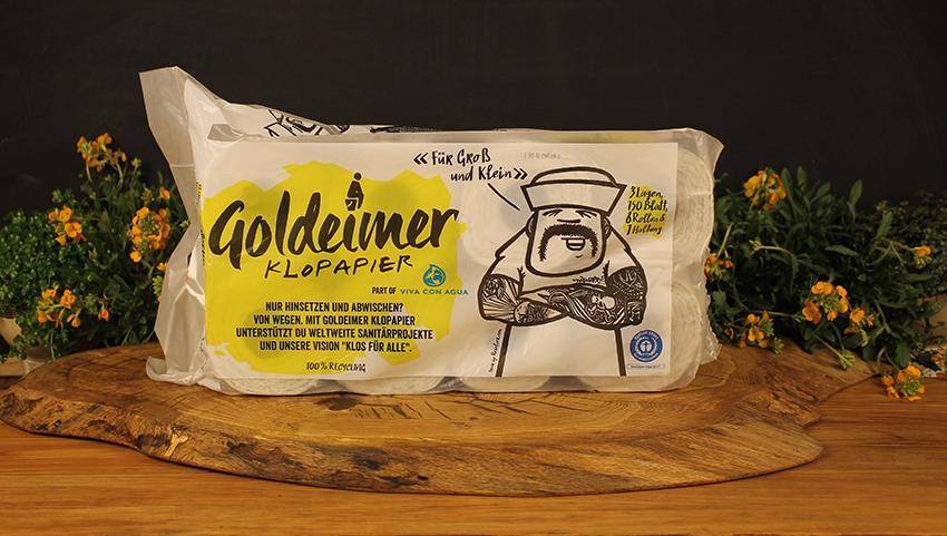 Toilettenpapier Goldeimer 8er