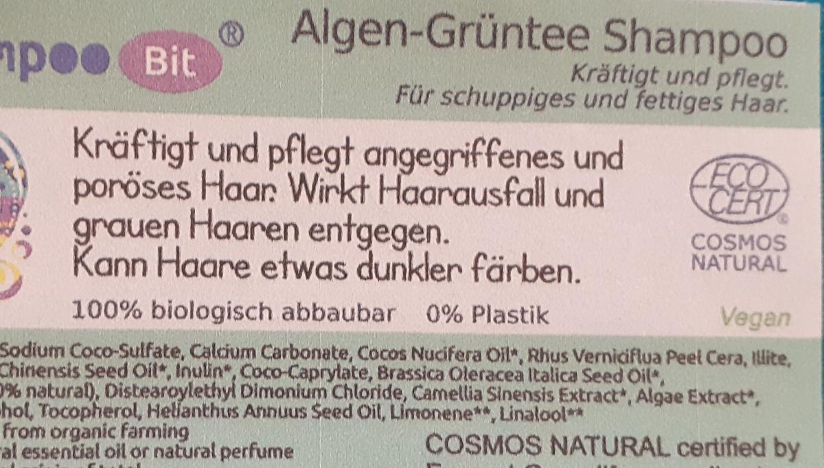 Shampoo Bit von Rosenrot, Algen Grüntee