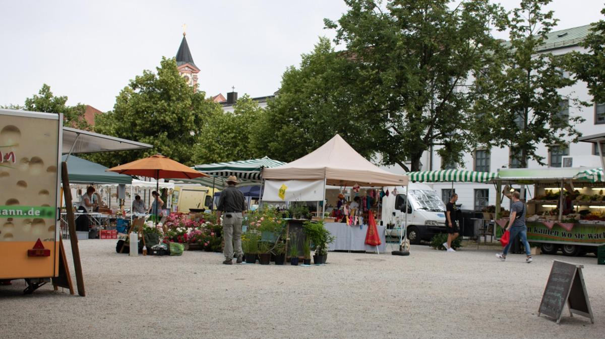Wochenmarkt Passau Domplatz