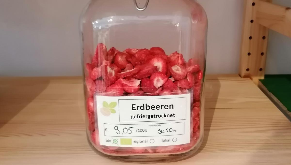 Erdbeeren, gefriergetrocknet