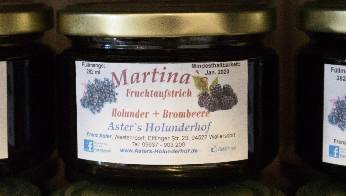 Fruchtaufstrich Holunder & Brombeere