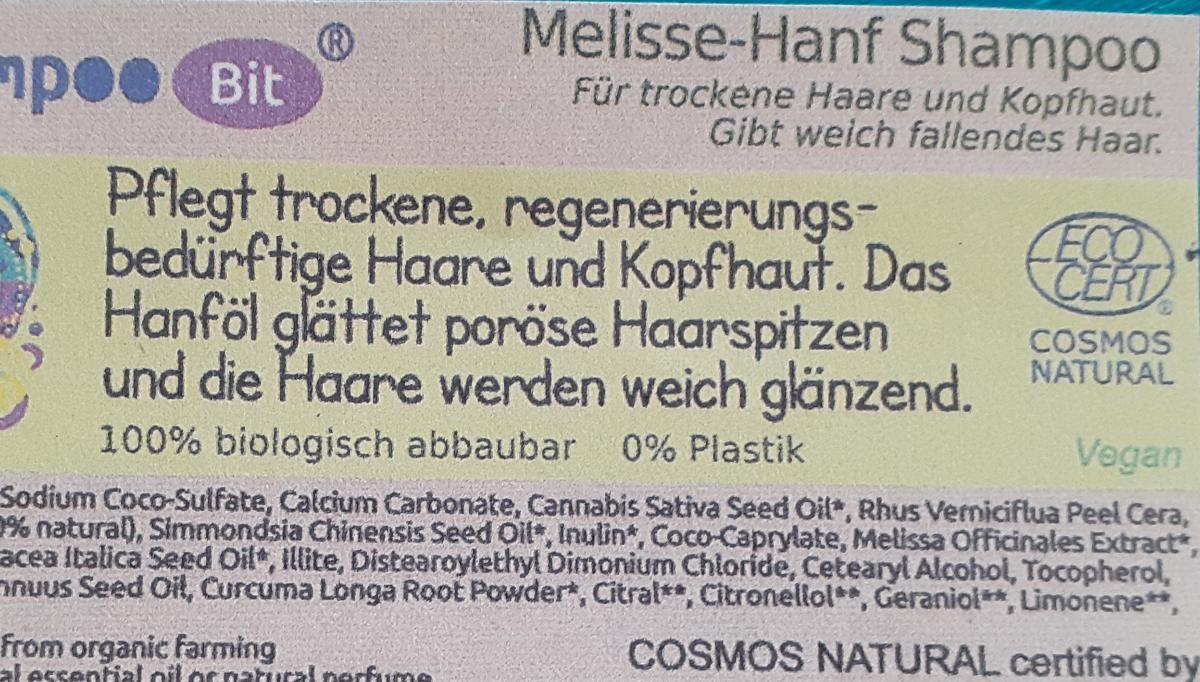 Shampoo Bit von Rosenrot, Melisse Hanf