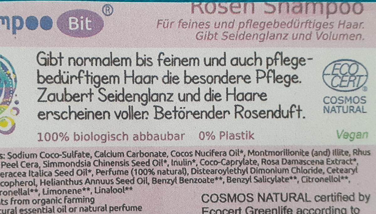 Shampoo Bit von Rosenrot, Rose