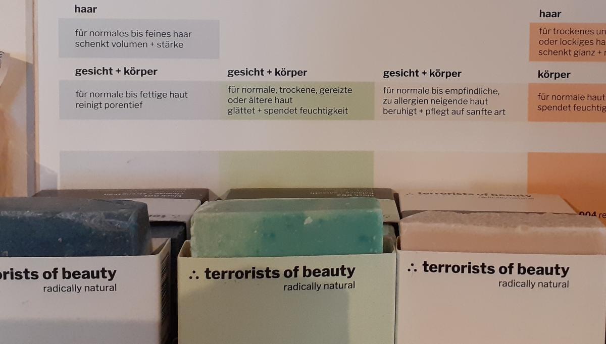 Blockseifen für Körper, Gesicht und Haar von terrorists of beauty