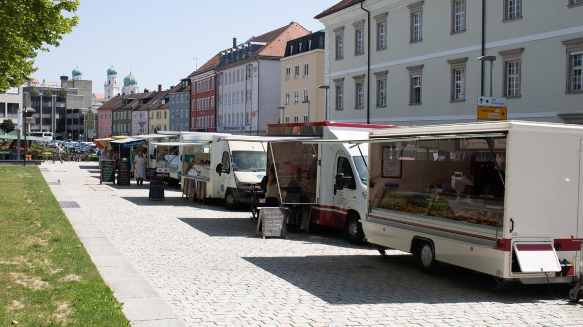 Wochenmarkt Passau Klostergarten
